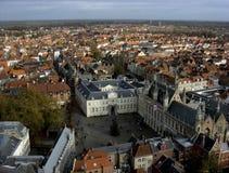 Vista di Bruges, Belgio Fotografia Stock Libera da Diritti