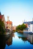 Vista di Bruges medievale fotografia stock libera da diritti