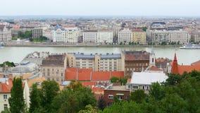 Vista di Budapest, 4k stock footage