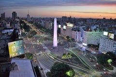 Vista di Buenos Aires, Argentina, diciottesima di febbraio di 2017 immagine stock