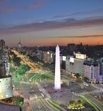 Vista di Buenos Aires, Argentina, diciottesima di febbraio di 2017 immagini stock libere da diritti