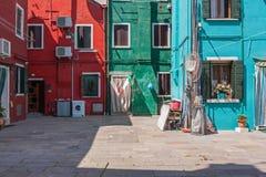 Vista di Burano Fotografia Stock