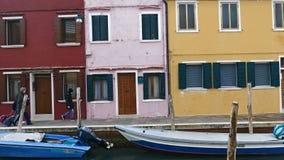 Vista di Burano, Italia 4 K archivi video