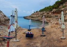 Vista di Cala Greca, Lampedusa fotografie stock