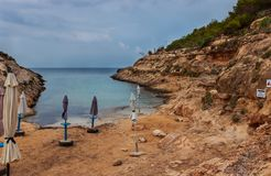 Vista di Cala Greca, Lampedusa immagini stock libere da diritti