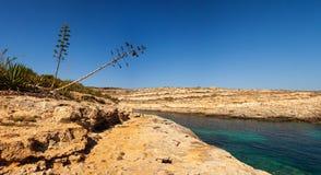 Vista di Cala Greca immagini stock libere da diritti