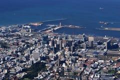 Vista di Cape Town con la montagna della Tabella Fotografia Stock Libera da Diritti