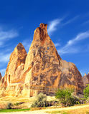Vista di Cappadocia Fotografia Stock