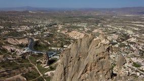 Vista di Cappadocia dalla cima Immagine Stock