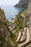 Vista di Capri - via Krupp Fotografia Stock