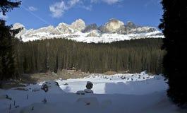 Vista di Catinaccio - dolomia Fotografia Stock Libera da Diritti