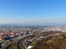 Vista di Celje della città Fotografie Stock