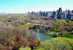 Vista di Central Park e di New York City Immagine Stock Libera da Diritti
