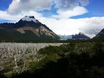 Vista di Cerro Torre fotografia stock libera da diritti
