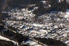 Vista di Chamonix-Mont-Blanc Immagini Stock