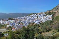 Vista di Chefchaouen, Marocco Fotografia Stock
