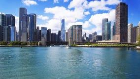 Vista di Chicago dal lago Fotografie Stock Libere da Diritti