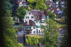 Vista 2 di Chillon del castello Fotografia Stock