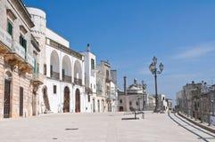 Vista di Cisternino. La Puglia. L'Italia. Immagini Stock