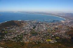 Vista di Città del Capo dalla montagna della Tabella, Afric del sud Fotografia Stock Libera da Diritti