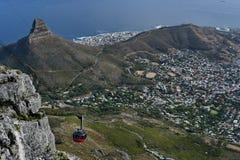 Vista di Città del Capo Sudafrica dalla montagna della Tabella fotografia stock libera da diritti