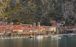 Vista di Città Vecchia di Cattaro, Montenegro Fotografia Stock Libera da Diritti
