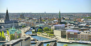 Vista di Copenhaghen, Danimarca Fotografia Stock Libera da Diritti