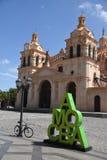 Vista di Cordova, Argentina della cattedrale della città Immagini Stock