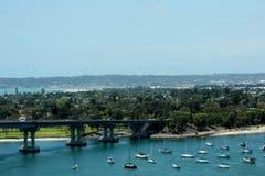 Vista di Coronado da San Diego Bay Bridge Immagine Stock Libera da Diritti