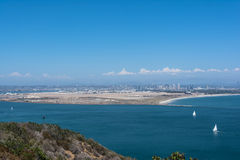 Vista di Coronado dal Point Loma, California Fotografie Stock