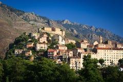 Vista di Corte, Corsica fotografia stock libera da diritti