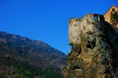 Vista di corte in Corsica Francia fotografie stock
