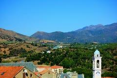 Vista di corte in Corsica Francia immagini stock libere da diritti