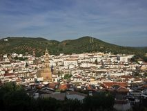 Vista di Costantina dal castello Fotografie Stock