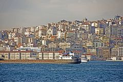 Vista di Costantinopoli Fotografie Stock