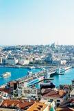 Vista di Costantinopoli Fotografia Stock