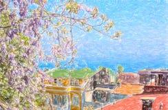Vista di Costantinopoli Fotografia Stock Libera da Diritti