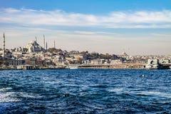 Vista di Costantinopoli Immagine Stock