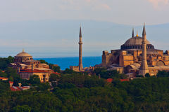 Vista di Costantinopoli su Hagia Sophia Fotografia Stock Libera da Diritti