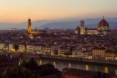Vista di crepuscolo di Firenze Fotografia Stock