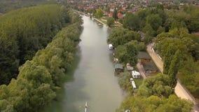 Vista di Danubio del fiume archivi video