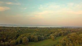 Vista di Danubio del fiume video d archivio