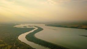 Vista di Danubio del fiume stock footage