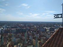 Vista di Danzica dalla torre immagini stock libere da diritti