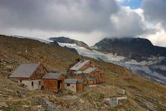 Vista di Defregger Haus (2.963 m) Fotografia Stock Libera da Diritti