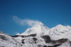 Vista di Dhaulagiri, Himalaya, Nepal Fotografie Stock