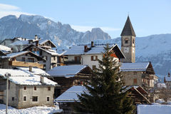 Vista di Dolomiti Immagine Stock