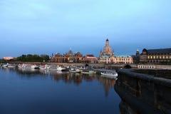 Vista di Dresda, Germania alla vecchia città fotografia stock