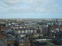 Vista di Dublino dal deposito di Guinness a Dublino in Irlanda, Europa fotografie stock
