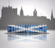 Vista di Edinburgh illustrazione di stock